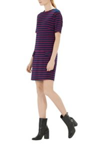 Stripe Ponte Shift Dress
