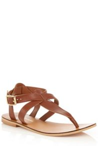 Warehouse Ankle Strap Toe Post Sandal