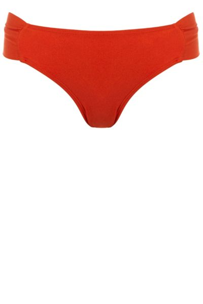 Warehouse Ruched Bikini Bottom