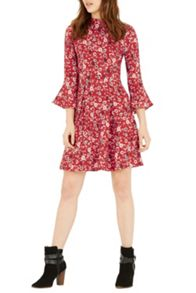 Warehouse Floral Babydoll Dress
