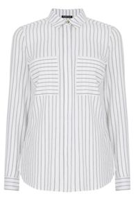 Warehouse Concealed Placket Stripe Shirt