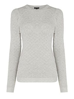 Pointelle Puff Sleeve Jumper