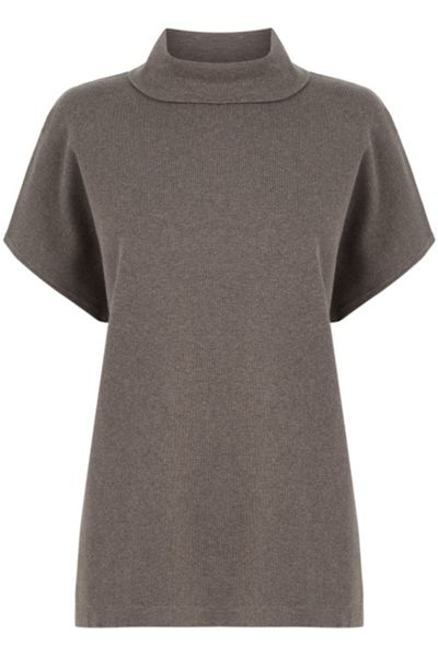 Warehouse Square Funnel Neck Top