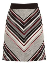 Warehouse Stripe Tweed Pelmet Skirt