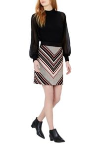 Stripe Tweed Pelmet Skirt