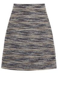 Warehouse Multi Stripe Tweed Skirt