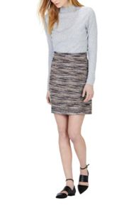 Multi Stripe Tweed Skirt