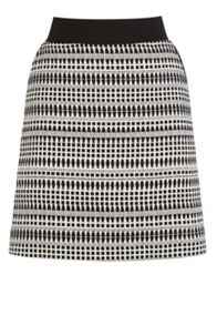 Warehouse Geo Tweed Skirt