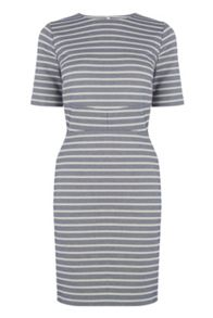 Warehouse Stripe Seam Detail Dress