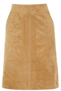 Warehouse Suedette Pocket Detail Skirt