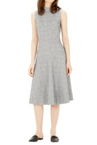 Warehouse Bonded Tweed Midi Dress