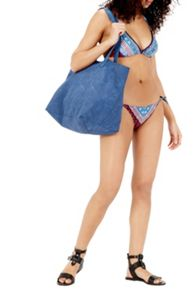Warehouse Pom Pom Trim Bikini Bottom