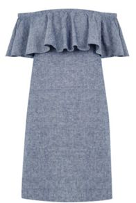 Warehouse Bardot Ruffle Dress