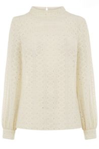 Warehouse Broderie Lace Top