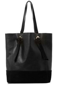 Warehouse Eyelet Leather Shopper