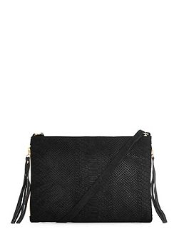 Embossed Croc Cross Body