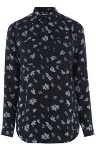 Warehouse Leaf Print Shirt