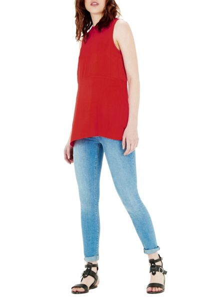 Warehouse Crepe Tunic Shell Top