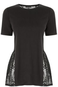 Warehouse Lace Back Peplum Top
