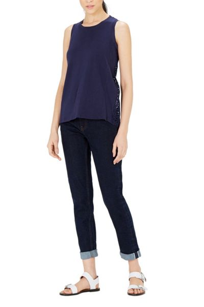 Warehouse Cotton Broderie Tank