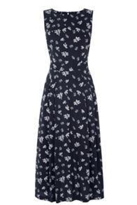 Warehouse Leaf Print Midi Dress