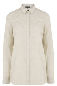 Warehouse Relaxed Curved Hem Shirt