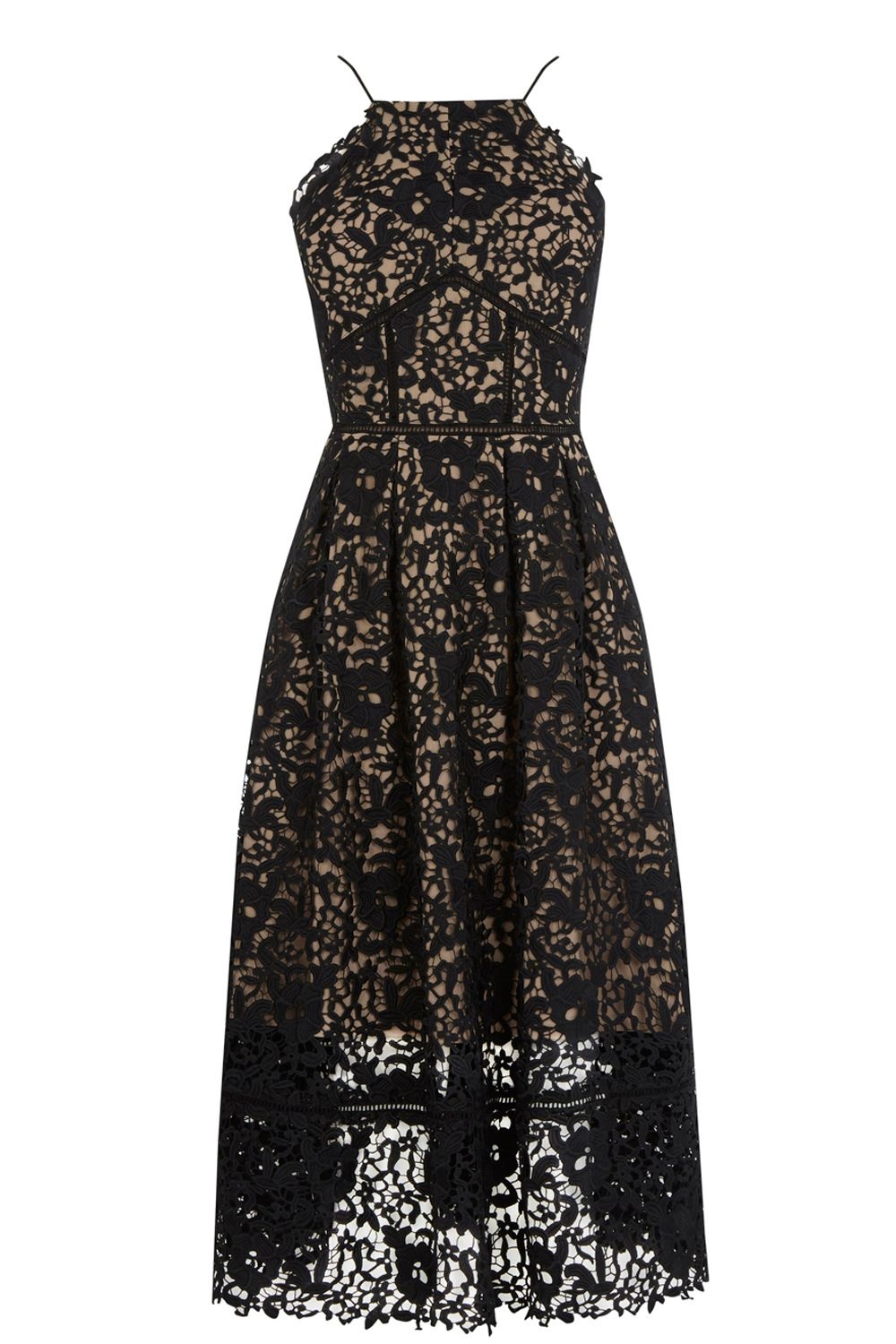Warehouse Lace Halter Dress