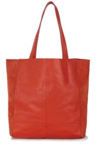 Warehouse Suede Leather Unlined Shopper