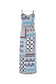 Warehouse Prairie Print Patchwork Midi