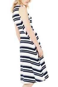 Warehouse Stripe Midi Dress