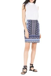 Warehouse Patchwork Print Pelmet Skirt