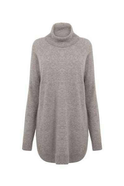 Warehouse Ribbed Curve Hem Jumper