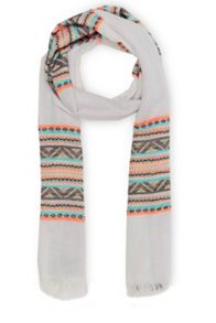 Warehouse Neon Aztec Scarf