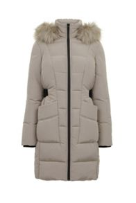 Warehouse Side Tab Detail Padded Coat