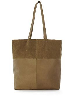 Leather Panelled Shopper