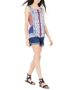 Warehouse Bright Aztec Printed Vest