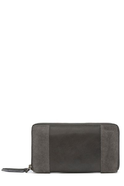 Warehouse Suede And Leather Purse
