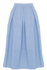 Warehouse Full Cotton Midi Skirt