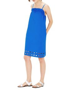 Warehouse Square Cutwork Cami Dress