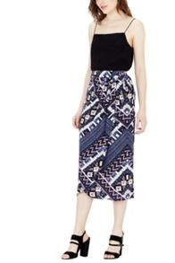 Warehouse Patchwork Print Skirt