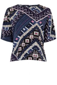 Warehouse Patchwork Print Top