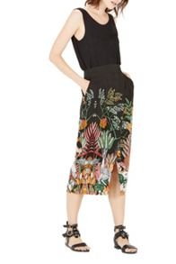 Warehouse Jungle Print Mid Skirt