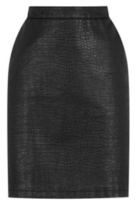 Warehouse Pu Croc Pelmet Skirt