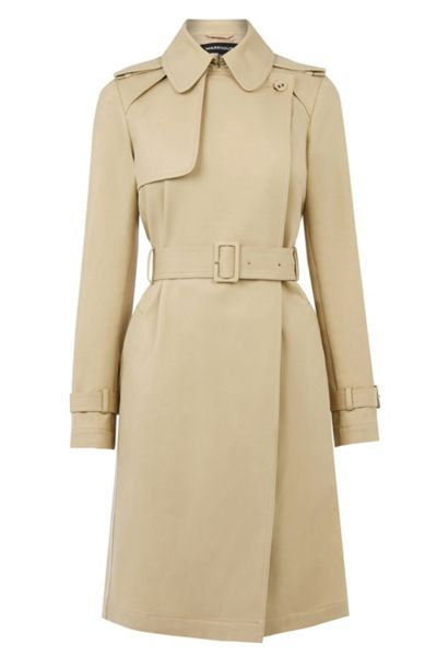 Warehouse Clean Belted Trench