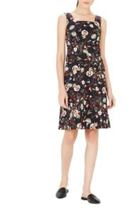 Warehouse Printed Pinny Dress