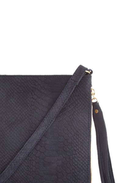 Warehouse Embossed Croc Cross Body