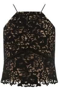 Warehouse Lace Halter Top