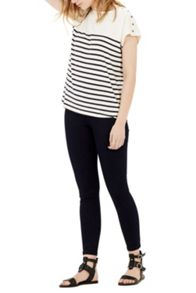 Warehouse Breton Button Top