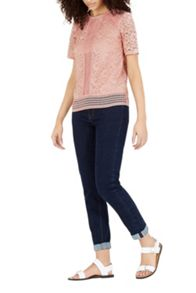 Warehouse Panelled Lace Top