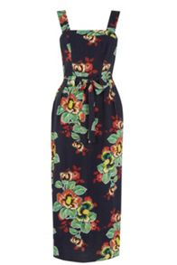 Warehouse Botanical Floral Midi Dress